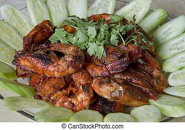 Sambal Chili Prawns Asian Cuisine Home Cook Dish