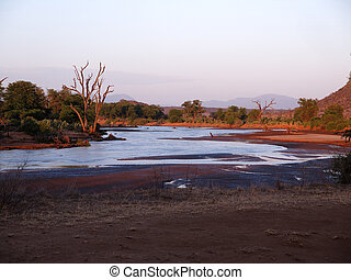 samburu, reserveren, kenia, nationale