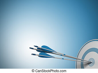 same objective, target arrow - three arrows hitting the...
