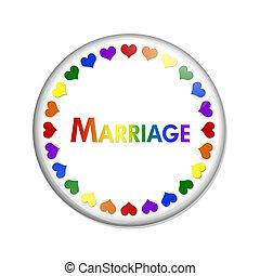 same-sex, bouton, mariage