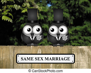 Same Sex Marriage - Male same sex marriage concept with male...