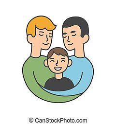 Same sex parents illustration