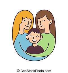 Same sex parents illustration