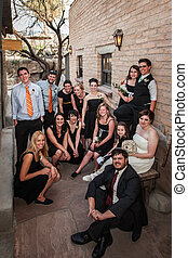 Same Sex Wedding Group - Same sex wedding group sitting...