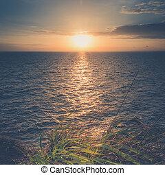 samed, ηλιοβασίλεμα , νησί , σιάμ , θαλασσογραφία