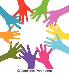 samen, handen