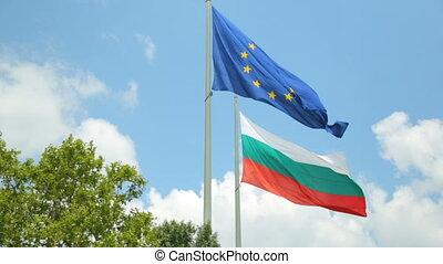 samen, vlag, bulgaar, europa