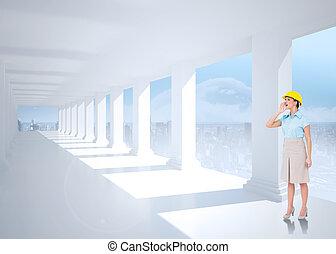 samengestelde afbeelding, van, aantrekkelijk, archi