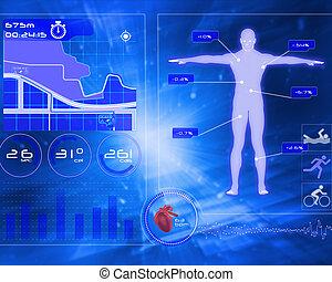 samengestelde afbeelding, van, medisch, interface