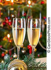 samenstelling, met, kerstmis, decorations.