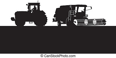 samenvoegen, tractor