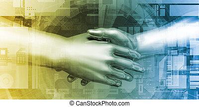 samenwerking, technologie