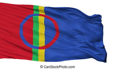 Sami Scandinavia Flag Isolated Seamless Loop - Sami...