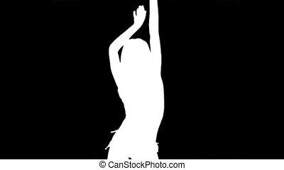 samica, abstrakcyjny, tańce, tło, sexy, partia