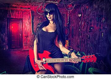 samica, gitarzysta