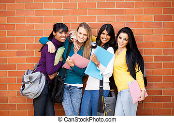 samica, grupa, kolegium, przyjaciele