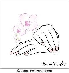 samica, manicure, siła robocza