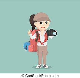 samica, wycieczkowicz, dzierżawa aparat fotograficzny