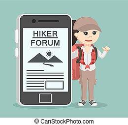 samica, wycieczkowicz, hiking, forum