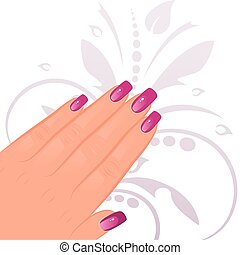 samicza ręka, manicured