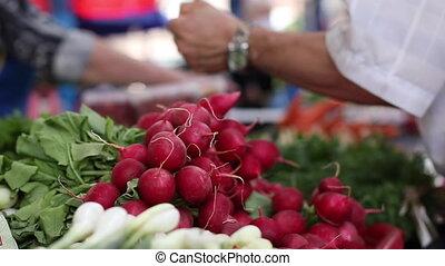 samiec, kupno, świeży, organiczny, kaukaski, produkcja, ...