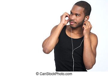 samiec, muzykować słuchanie, afrykanin