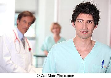 samiec, nurse.
