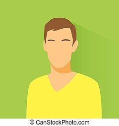 samiec, przypadkowy, avatar, profil, portret, ikona, osoba, ...