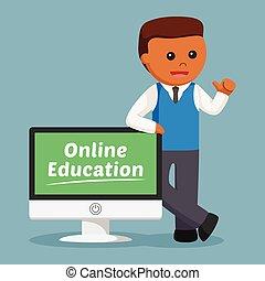 samiec, wykształcenie, nauczyciel, afrykanin, online
