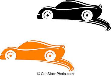 samla, biltävlingar bilar