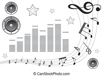samla, musik, element