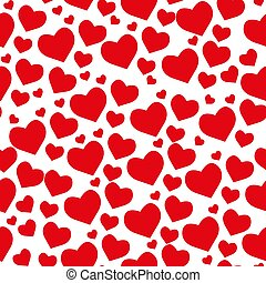 Samless pattern from hearts on a white background