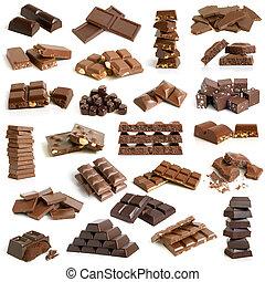 samling, chokolade