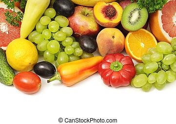 samling, frugter grønsager