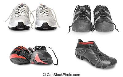 samling, i, sport sko