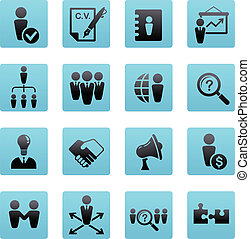 samling, menneskelige ressourcer, iconerne