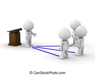 sammanhängande, offentlig högtalare, vett, man, 3