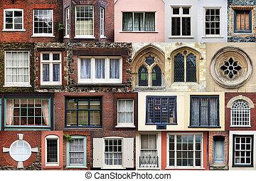 sammansatt, av, fönstren