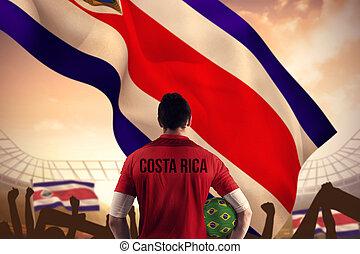 sammansatt avbild, av, costa rica, footb