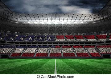 sammansatt, digitally genererade, amerikan, national flagg, ...