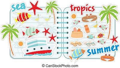 sammelalbum, elemente, tropen