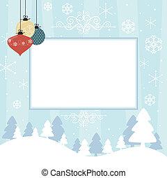 sammelalbum, weihnachtskarte