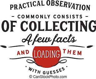 sammeln, wenige, tatsachen