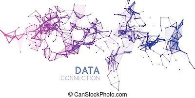 sammenhænge, abstrakt, baggrund, netværk