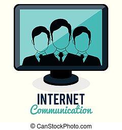 sammenhænge, gruppe, samfund, internet