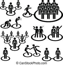 sammenhænge, netværk, folk branche