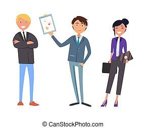 sammenkomst, arbejde, møde, folk branche