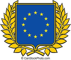 sammenslutning, emblem, europæisk