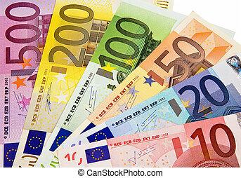 sammenslutning, valuta, europan