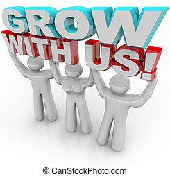 sammenvokse, personlig, -, os, tilvækst, gruppe, voks